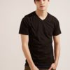 Anti Mosquito。320g Cotton V-Neck T-Shirt- 03749-Black by Life8 for Male