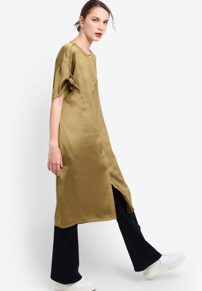 Flowy Shirt Dress by Mango for Female