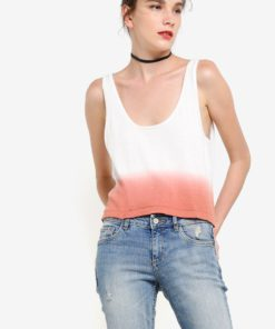 Tie-Dye Effect Tank Top by Mango for Female