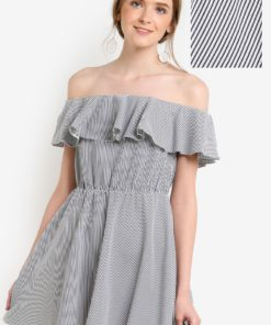 Petite Stripe Ruffle Sundress by Miss Selfridge for Female