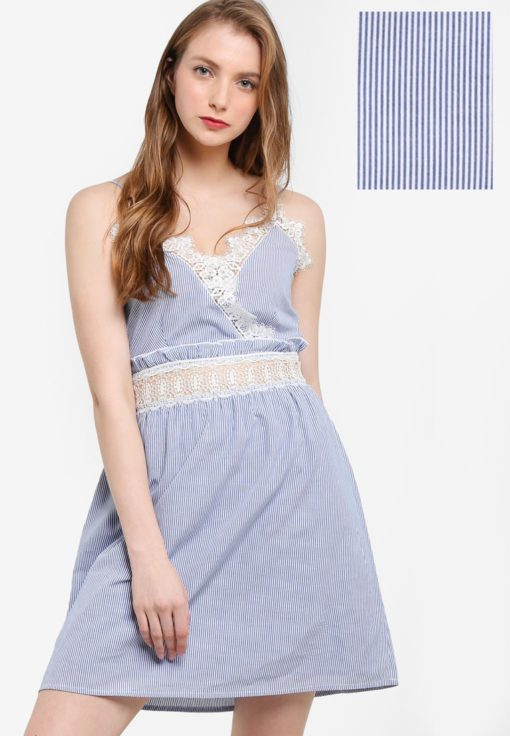 Stripe Lace Sundress by Miss Selfridge for Female