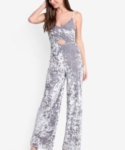 Velvet Cut Out Jumpsuit by Miss Selfridge for Female