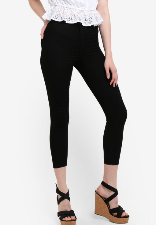 Petite Steffi Black Jeans by Miss Selfridge for Female