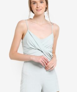 Petite Mint Wrap Playsuit by Miss Selfridge for Female