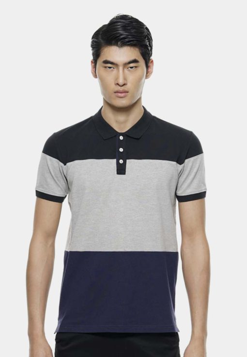 3 Colors Layers Polo by Private Stitch for Male