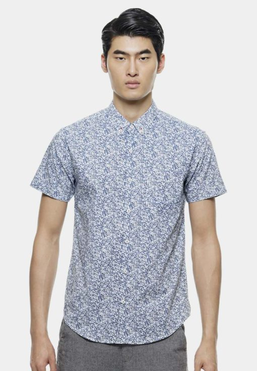 Casual Short Sleve Shirt In Printed Floral by Private Stitch for Male