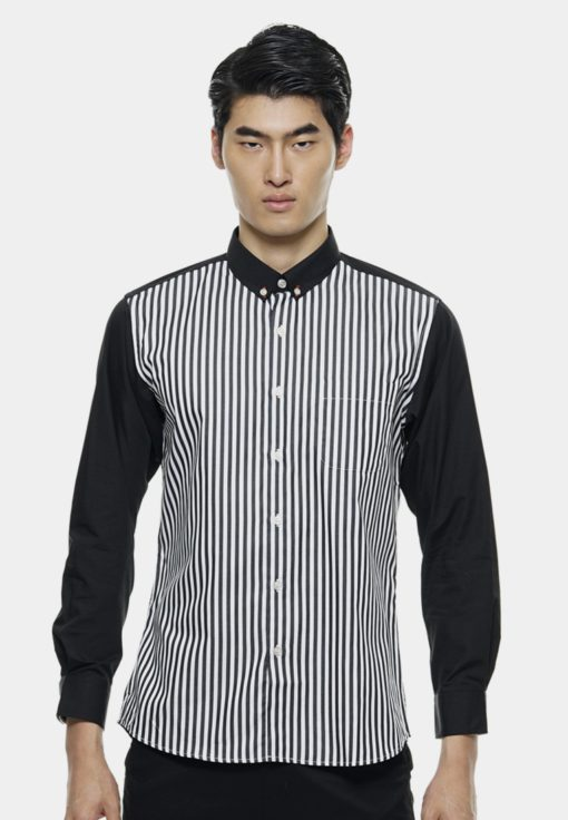 Classic Smart Shirts in Black by Private Stitch for Male