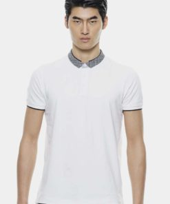 Small Woven Collar Basic Polo Tees by Private Stitch for Male