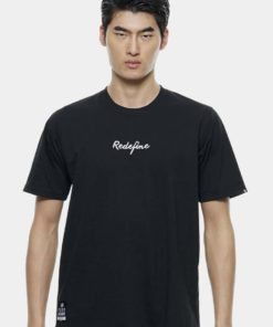 Oversize T-Shirt In Black with Embroidery Infont by Private Stitch for Male