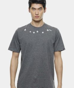 Oversize T-Shirt In Grey with Star Print by Private Stitch for Male