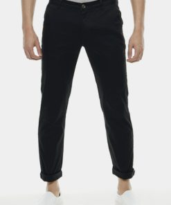 Slim Fit Chinos Trouser In Black by Private Stitch for Male