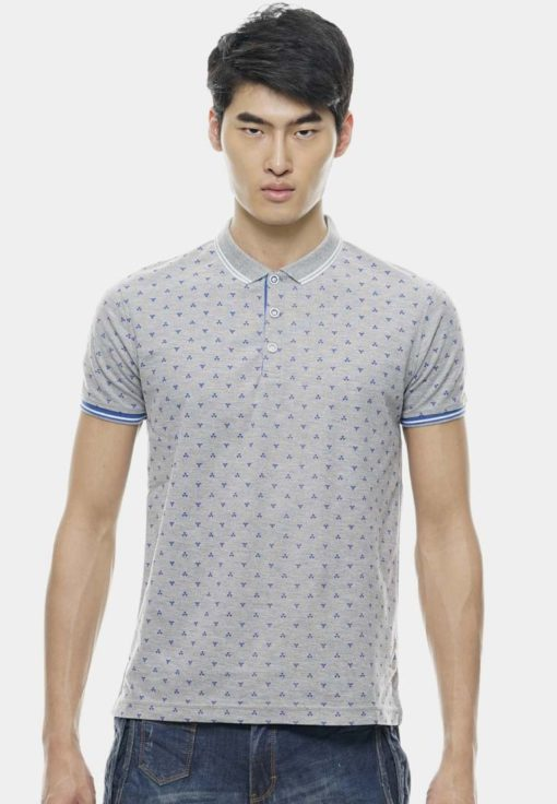 Stylish Full Printed Collar Polo Tees by Private Stitch for Male