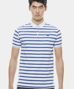 Basic Royal Blue Tiny Striped with Signature Moustache by Private Stitch for Male