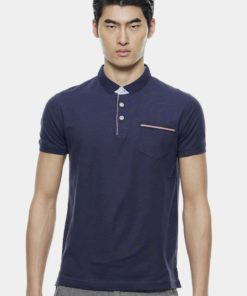 Stylish Pocket with Detail Polo Tees by Private Stitch for Male