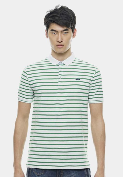 Basic Green Tiny Striped with Signature Moustache by Private Stitch for Male