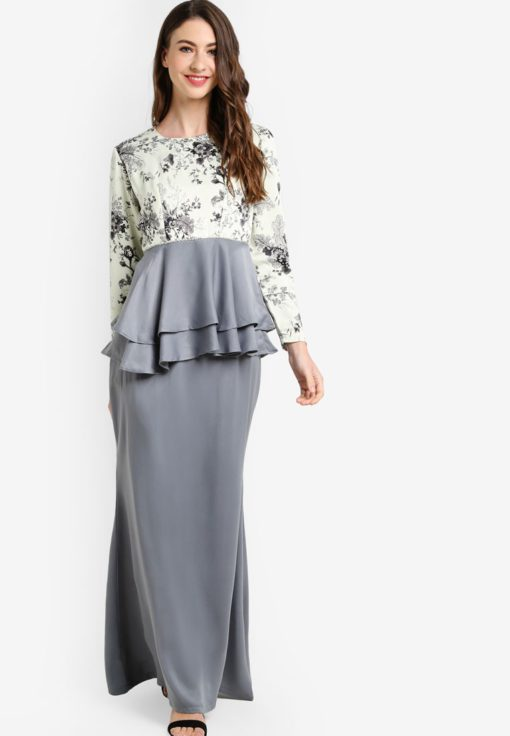 Selena Peplum Kurung by Qasaya for Female