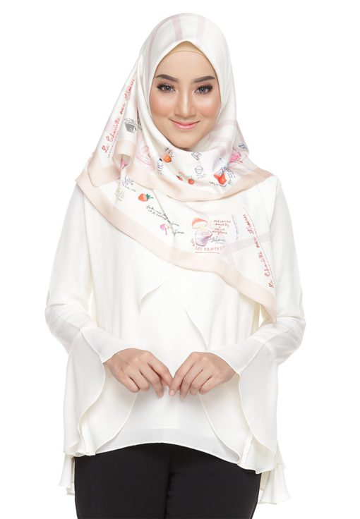 Rania Adeeba Blouse Aaira Off White by Rania Adeeba for Female