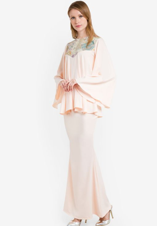 Rose Flared Kurung by Sandra for Female
