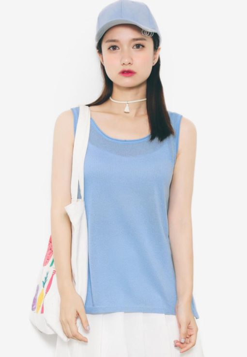 Knitted Loose Fit Top by Shopsfashion for Female
