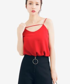 Cut Out Cami Top by Shopsfashion for Female