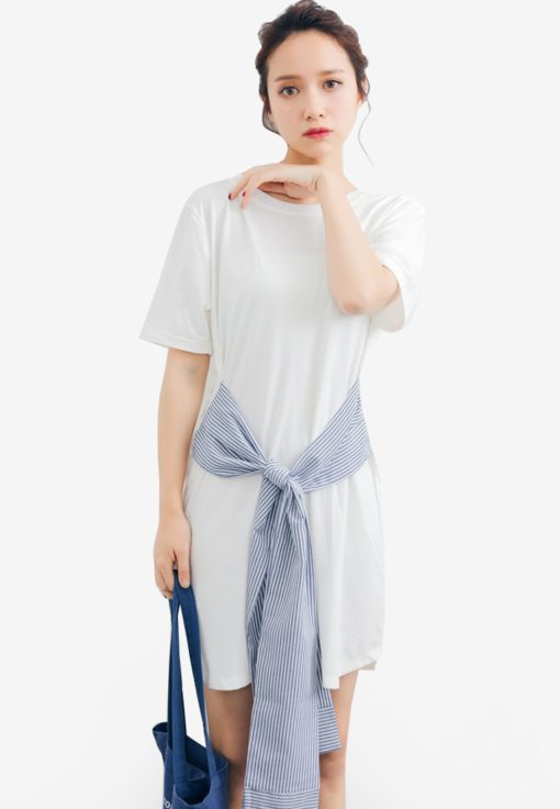 Front Tie Up Knot Dress by Shopsfashion for Female