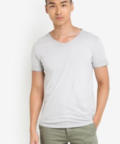 Hako V-Neck T-Shirt by !Solid for Male