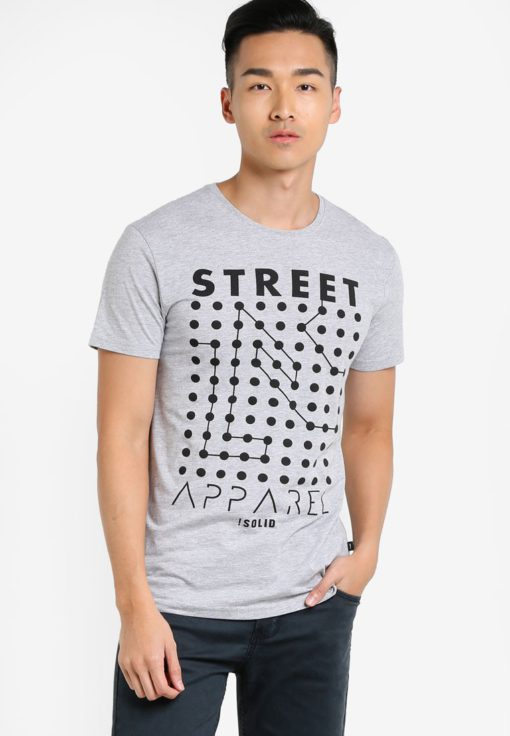 Harpur Graphic T-Shirt by !Solid for Male