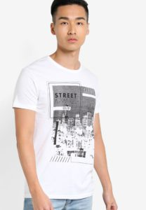 Haidane Graphic T-Shirt by !Solid for Male