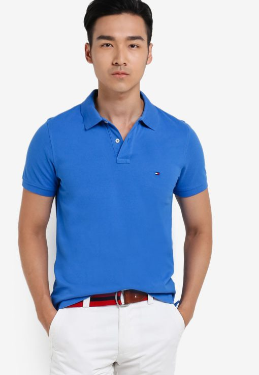 Slim Fit Polo Shirt by Tommy Hilfiger for Male