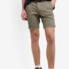 Khaki Stretch Chino Shorts by Topman for Male