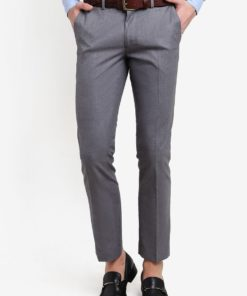 Grey Skinny Fit Suit Trousers by Topman for Male