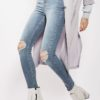 Moto Mid Blue Ripped Jamie Jeans by TOPSHOP for Female