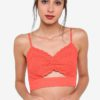 Broidere Cutout Bralet by TOPSHOP for Female