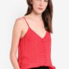 Pinspot Button Cami by TOPSHOP for Female