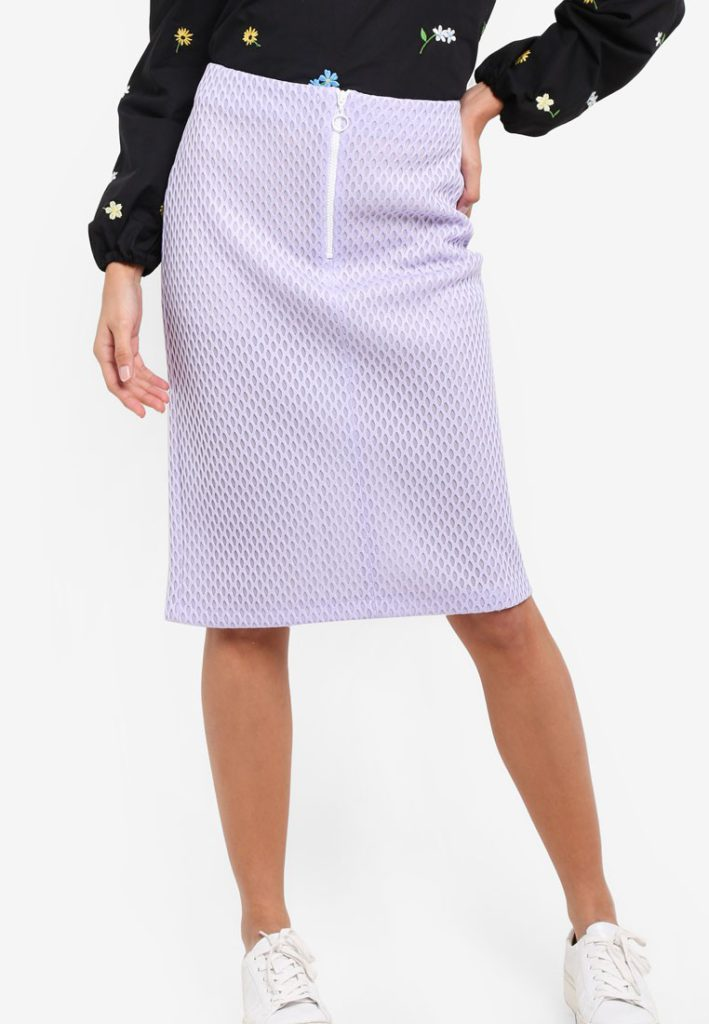 Honeycomb Pencil Midi Skirt by TOPSHOP for Female