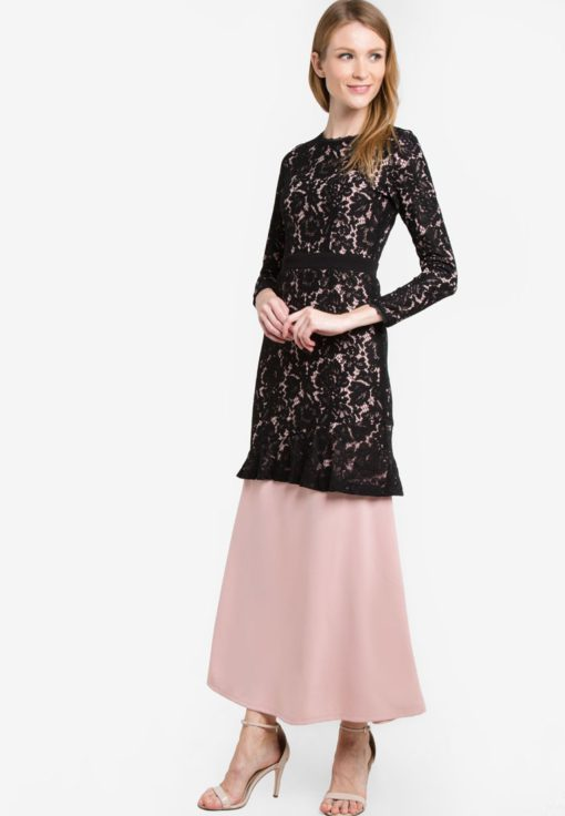 Eliza One Piece Lace Kurung by VERCATO for Female