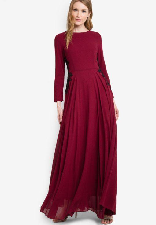 Gabriell Chiffon Maxi Dress by VERCATO for Female