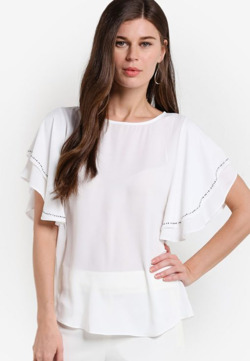 Ivory Embellished Top by Wallis for Female