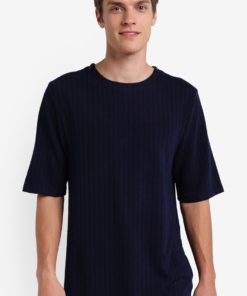 Shoulder Seam Zip Tee by ZALORA for Male