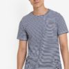 Distressed Cotton Stripe Tee by ZALORA for Male