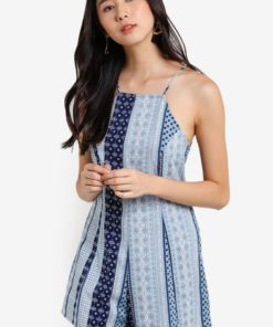 Love Halter Neck Playsuit by ZALORA for Female