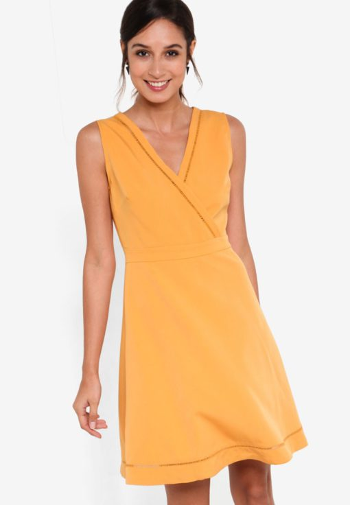 Collection Trim Insert Fit & Flare Dress by ZALORA for Female