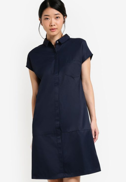 Collection Tie Back Shirt Dress by ZALORA for Female