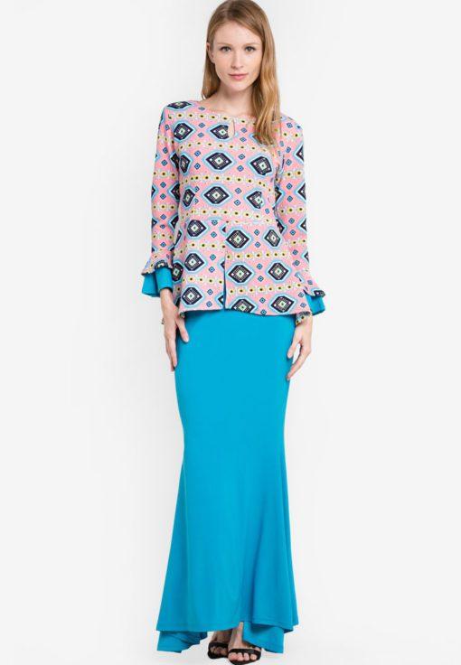 Midi Kurung Peplum Kebaya by Zuco Fashion for Female